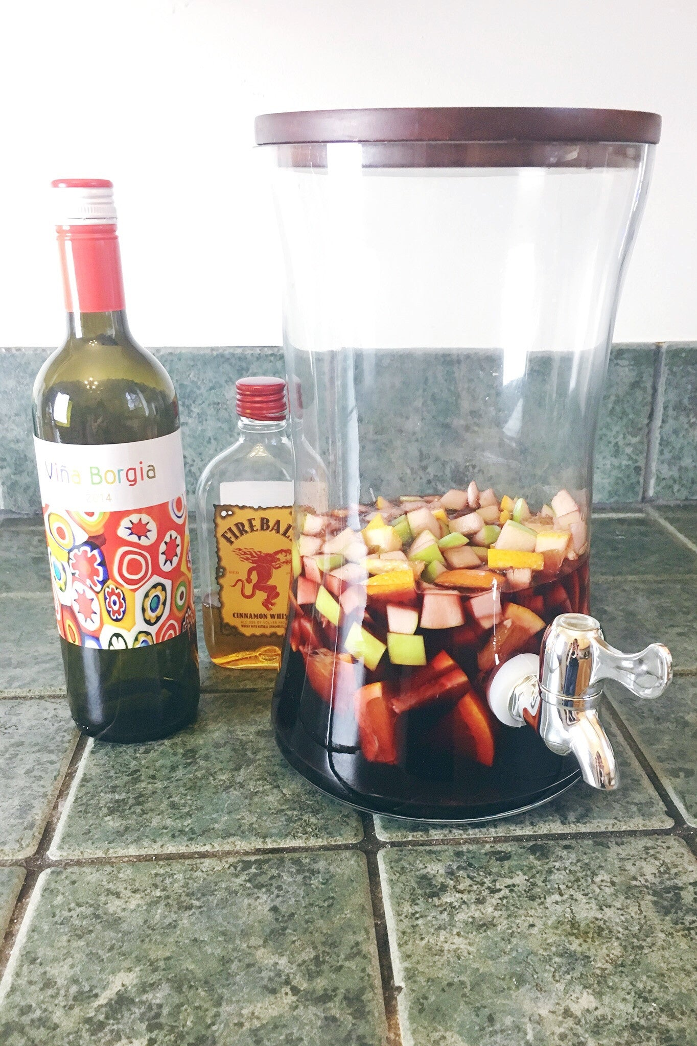 Shopmucho makes fireball whiskey sangria wine recipe