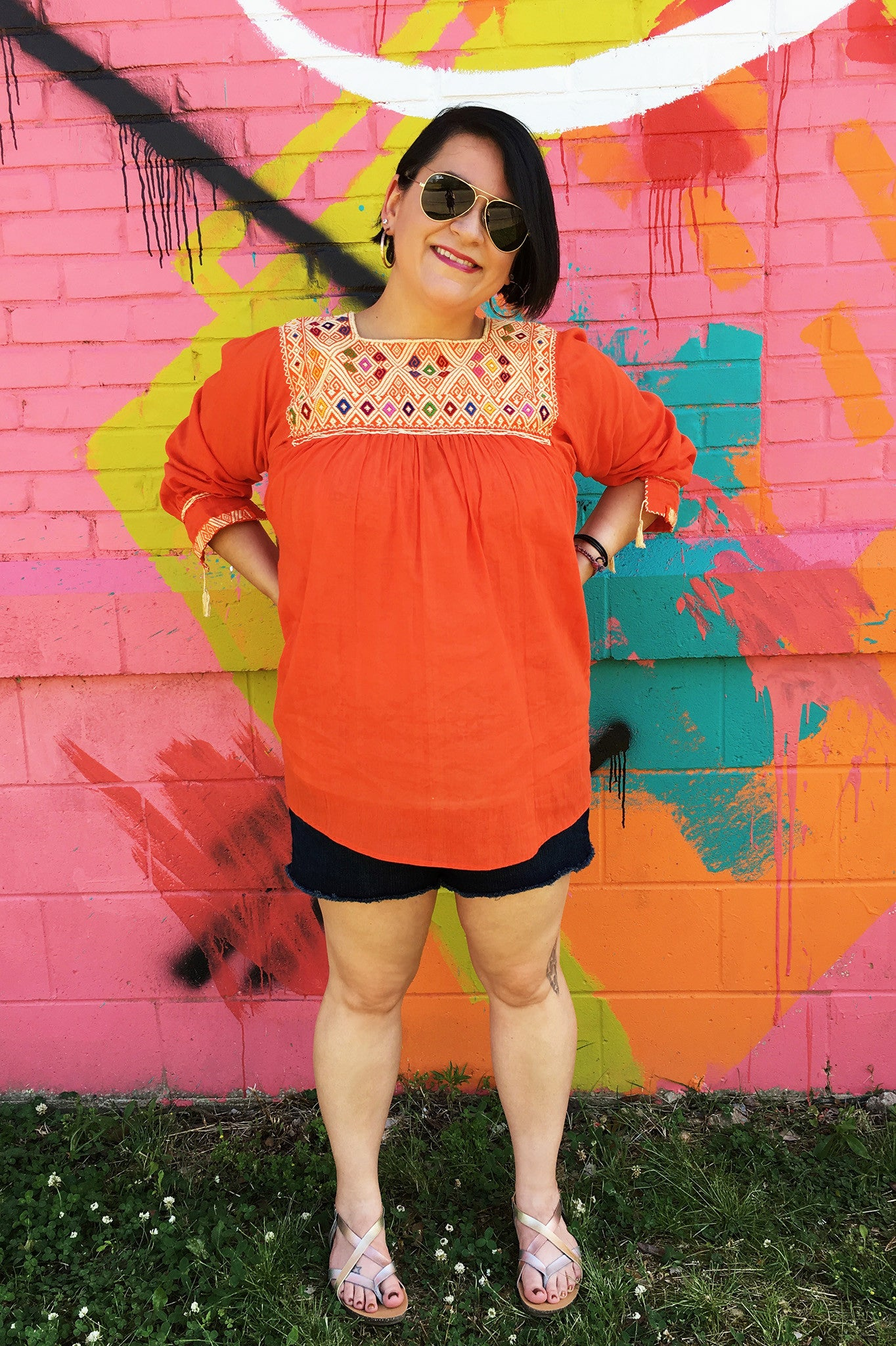 ShopMucho women's Mexican embroidered blouses sister summer style blog post downtown Memphis TN