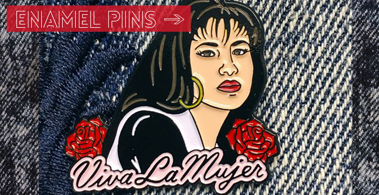 ShopMucho enamel pins and patches collection for all of your flair needs