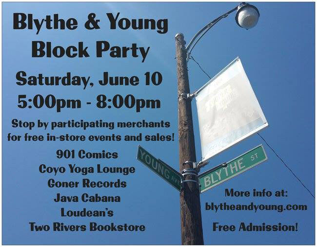 ShopMucho events blythe and young ave block party pop up shop at two rivers bookstore