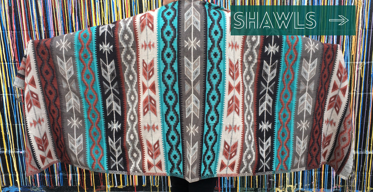 ShopMucho's women's accessories shawls, scarves, headbands, and wraps