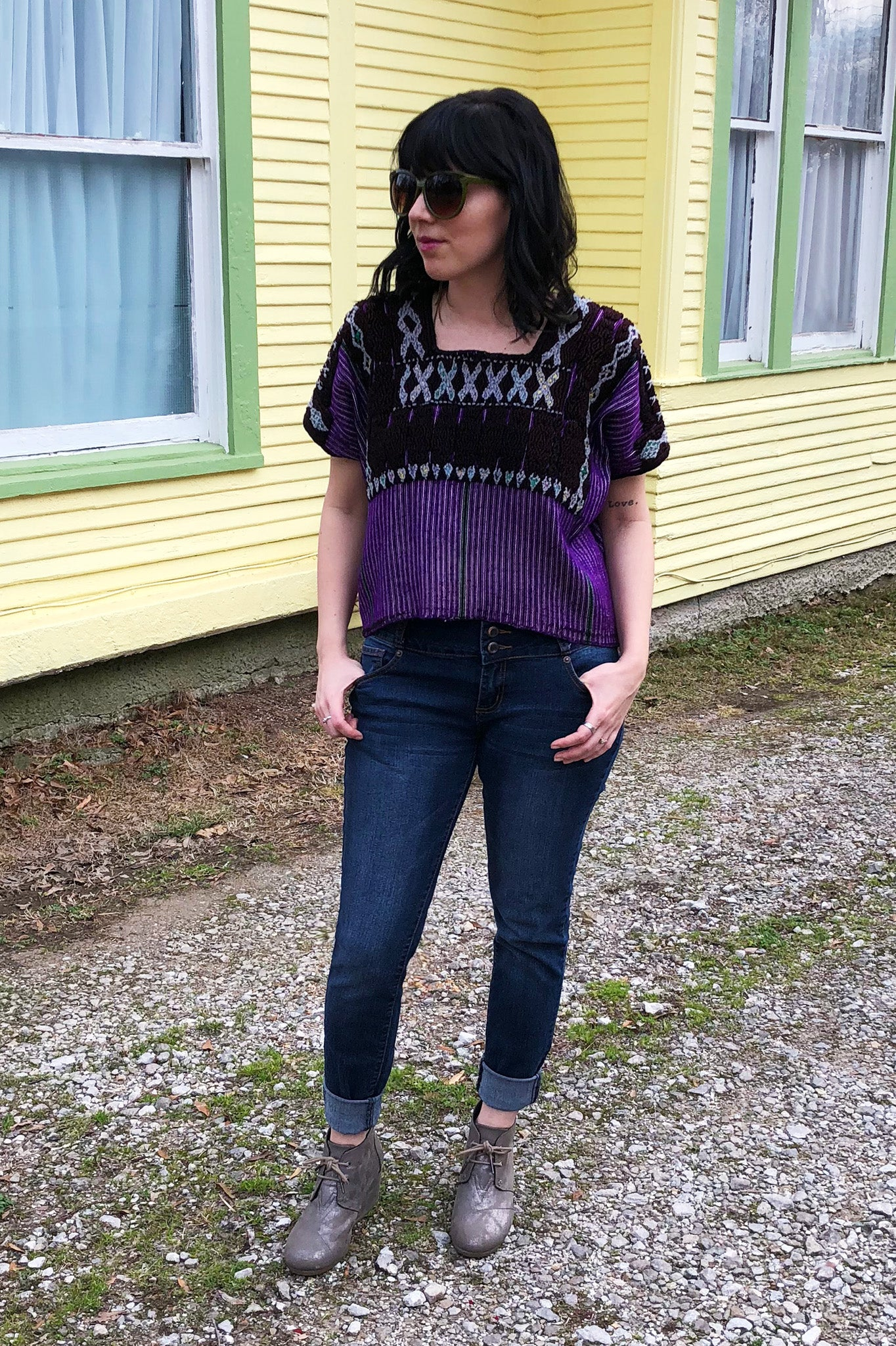 ShopMucho styles women's huipil jumper and top handmade in Southern Mexico by Chiapas women