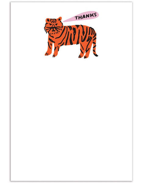 ShopMucho Tiger Thanks Greeting Card Set