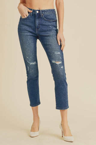 ShopMucho JBD Distressed Straight Jeans