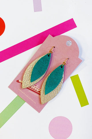 Leather Layered Dangle Earrings