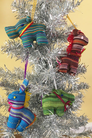 Guatemalan Plush Animal Ornaments