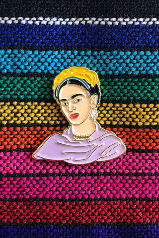 ShopMucho Frida Kahlo portrait enamel pin