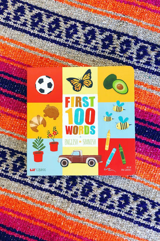 ShopMucho Lil Libros First 100 Words Bilingual Children's book