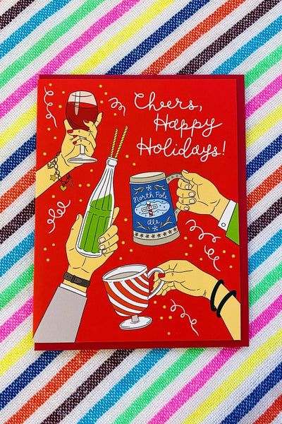 ShopMucho Cheers Happy Holidays Greeting Card