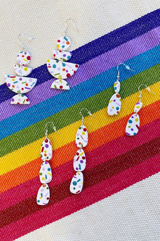 ShopMucho Primas Confetti Polymer Clay Statement Earrings