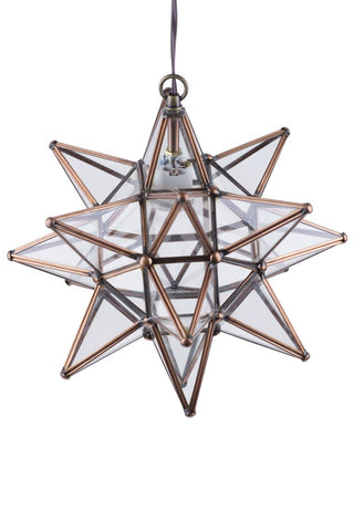 ShopMucho Small Copper Star Light Fixture Home Decor