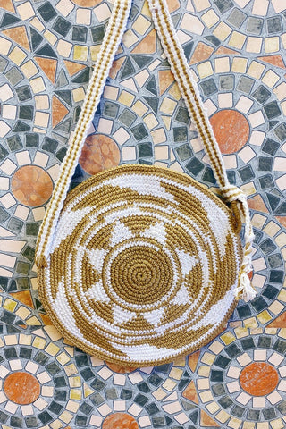 Crochet Circle Women's Crossbody Handbag