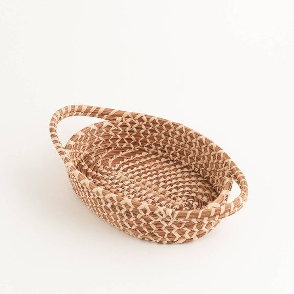 ShopMucho Natural Woven Basket With Handles