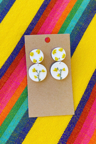 ShopMucho The Daffodil Polymer Clay Statement Earrings