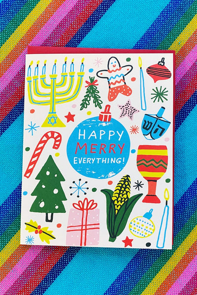 ShopMucho Happy Merry Everything Greeting Card