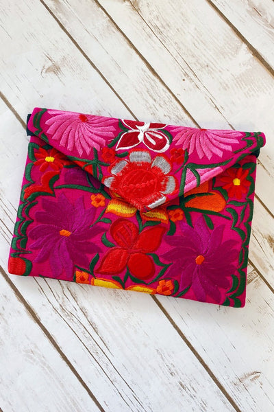 Shopmucho Women's Embroidered Clutch