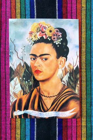 ShopMucho Frida Kahlo portrait postcard