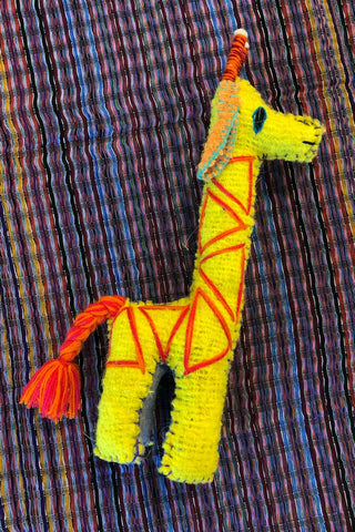 ShopMucho handmade in Mexico giraffe dolls