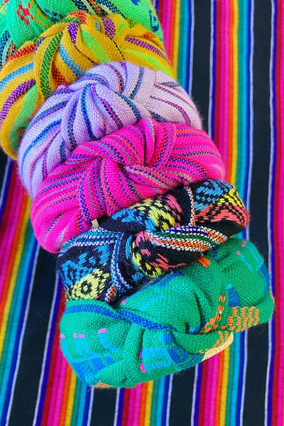 ShopMucho Colorful Knotted Headband Handmade in Mexico