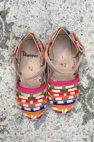 ShopMucho little girls colorful woven leather huaraches sizes 2-8 years old