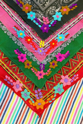 ShopMucho Mexican Hand Embroidered Bandana