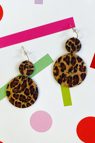 ShopMucho Leather Circle Earrings