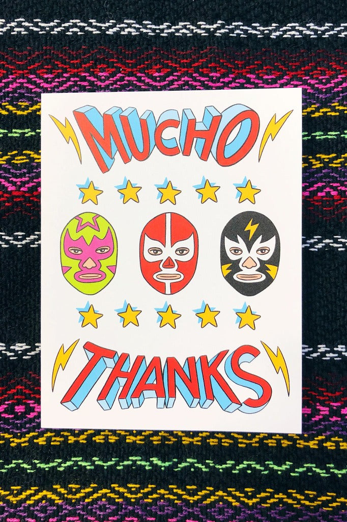ShopMucho Greeting Thank you cards in Luchador