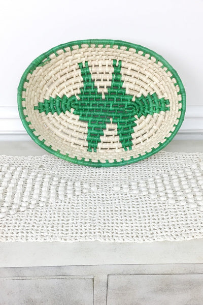 ShopMucho Mexican Woven Handmade Oval Palm Baskets