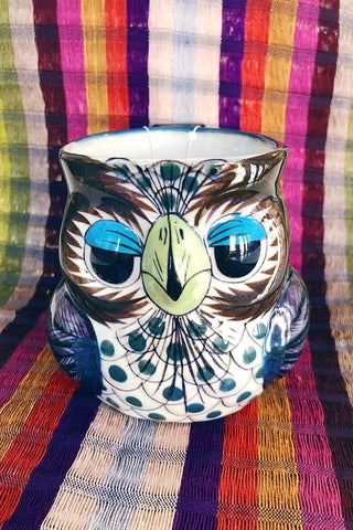 ShopMucho handmade in Guatemala ceramic owl mugs