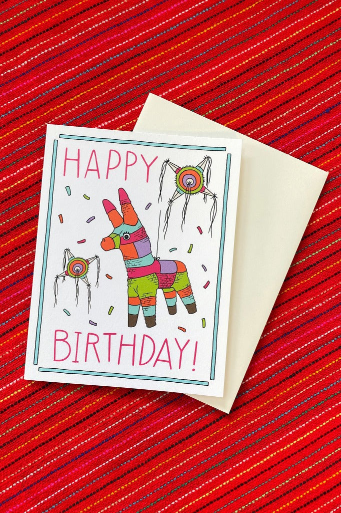ShopMucho Pinata Happy Birthday Greeting Card