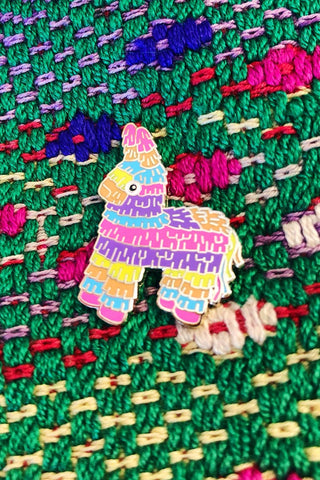 ShopMucho colorful piñata enamel pin