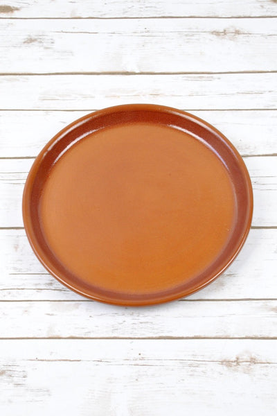ShopMucho honey brown ceramic Provence plate tray