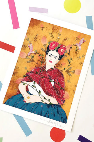 ShopMucho Supports Small Businesses shop Frida Full Portrait Print by Jesi Lee