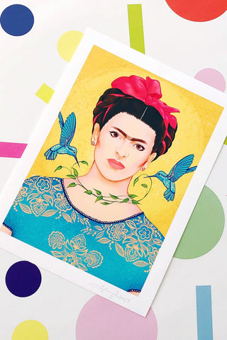 ShopMucho Supports Small Businesses shop Frida Portrait Print by Jesi Lee