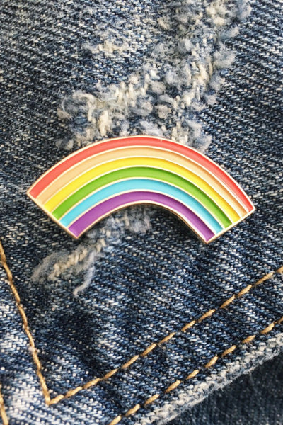 ShopMucho rainbow enamel pin