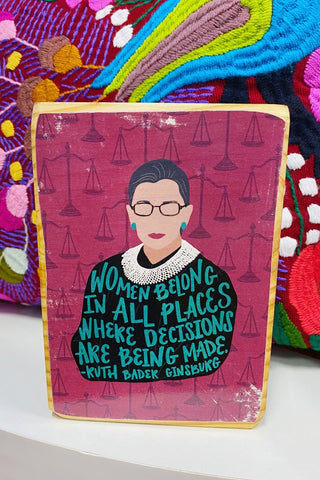 ShopMucho Ruth Bader Ginsburg (RBG) Quote - Wood Art