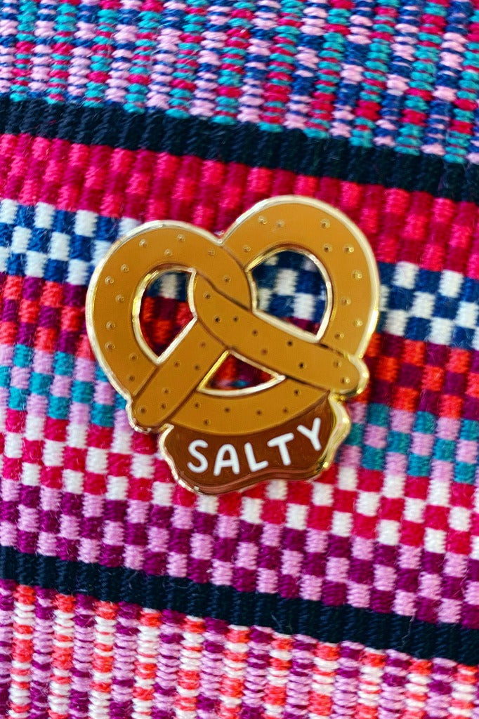 ShopMucho Salty Pretzel Pin