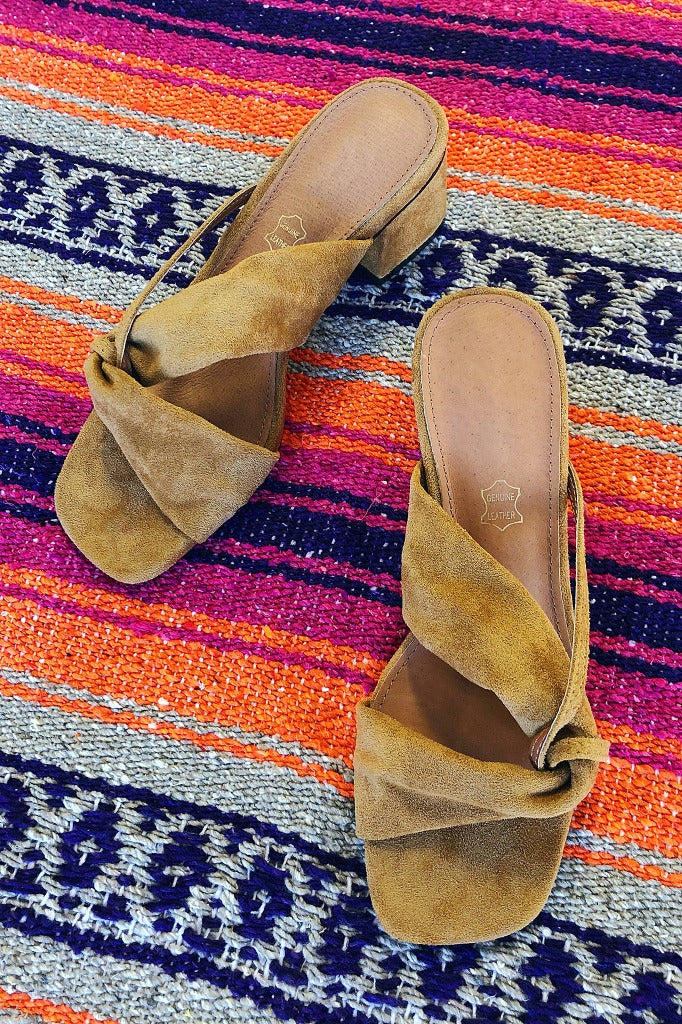 ShopMucho Jackie slip on suede women's mule sandals
