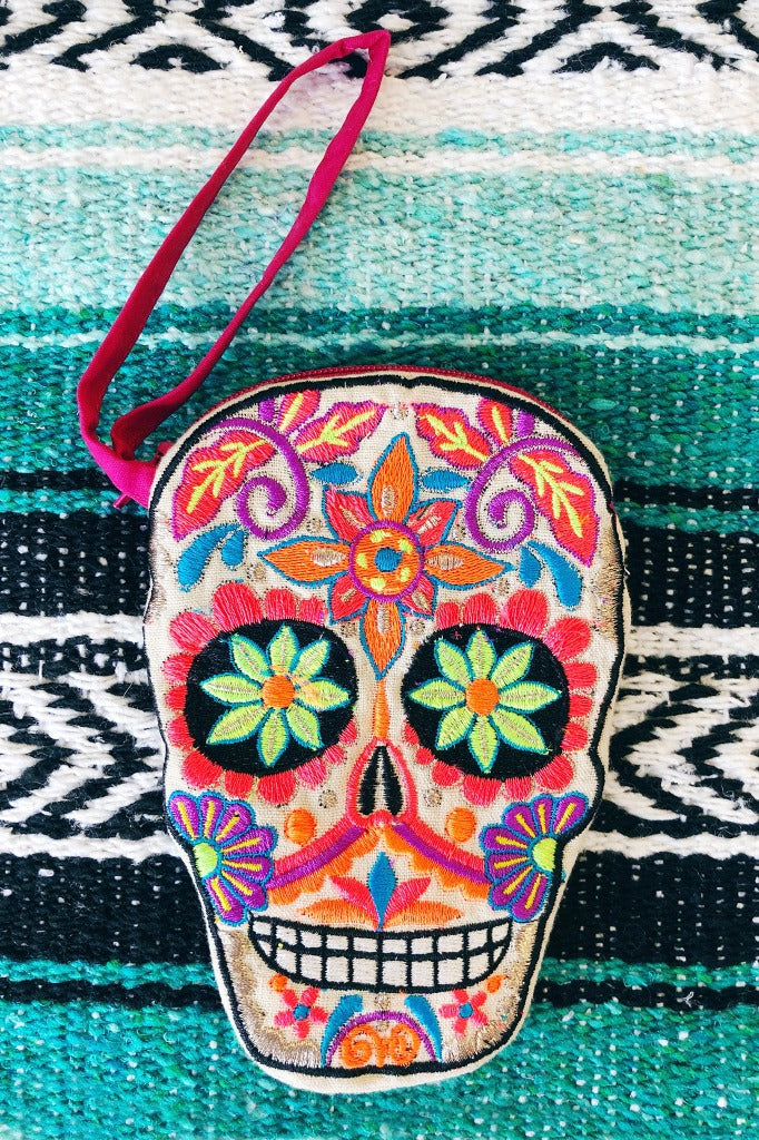 ShopMucho sugar skull coin purse