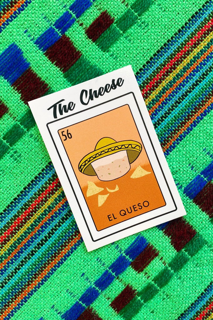 ShopMucho Memphis Loteria Sticker- El Queso, The Cheese
