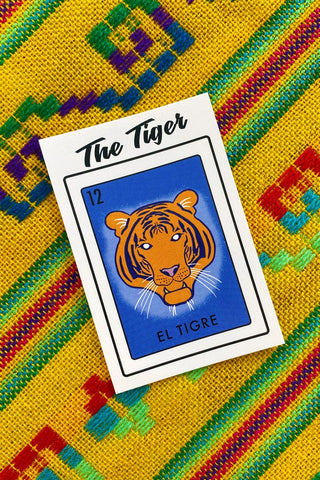 ShopMucho Memphis Loteria Sticker- El Tigre, The Tiger