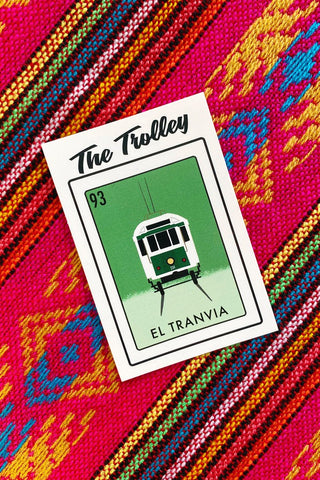 ShopMucho Memphis Loteria Sticker- El Tranvia, The Trolley