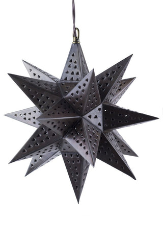 ShopMucho Small Punched Tin Hanging Star Light Fixture Home decor