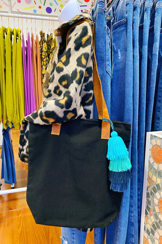ShopMucho Handmade Tote with Tassel