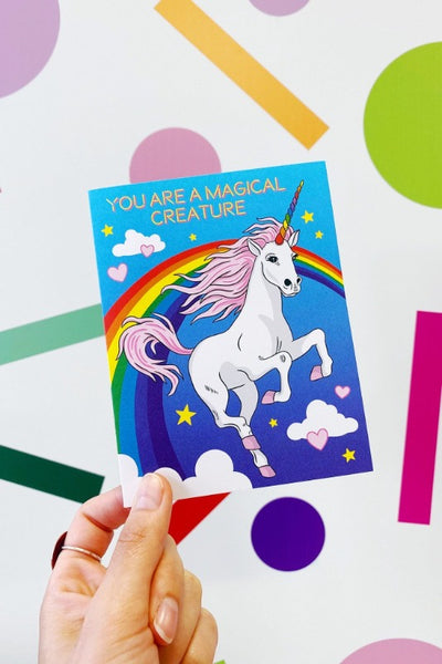 ShopMucho Unicorn Birthday Greeting Card