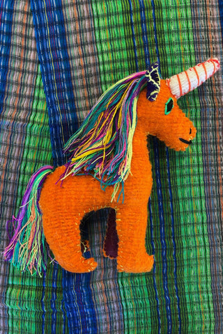 ShopMucho handmade in Mexico unicorn doll