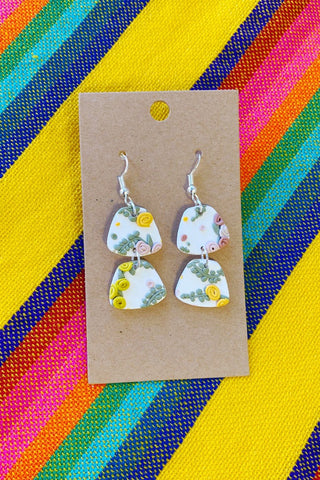 ShopMucho The Wallflower Polymer Clay Statement Earrings