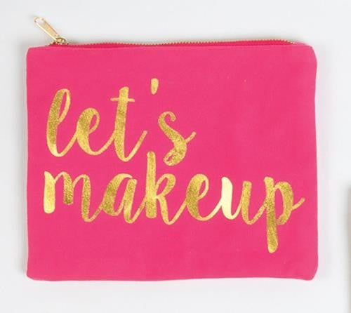 CANVAS POUCH- LET'S MAKEUP