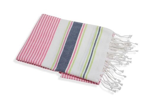 Turkish Towel   Pink Lime   in a pinch gifts.myshopify.com