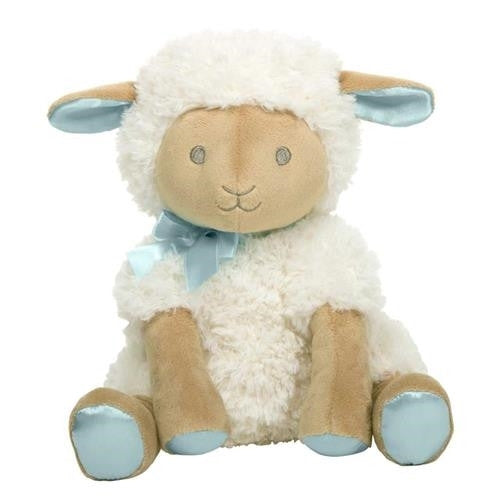 "12"" MUSICAL WIND-UP TOY - LAMB - HUSH LITTLE BABY - BOY"
